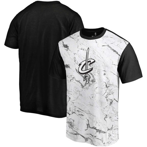 Cleveland Cavaliers Marble Sublimated T Shirt White Black