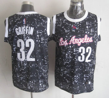Clippers 32 Blake Griffin Black City Luminous Jersey