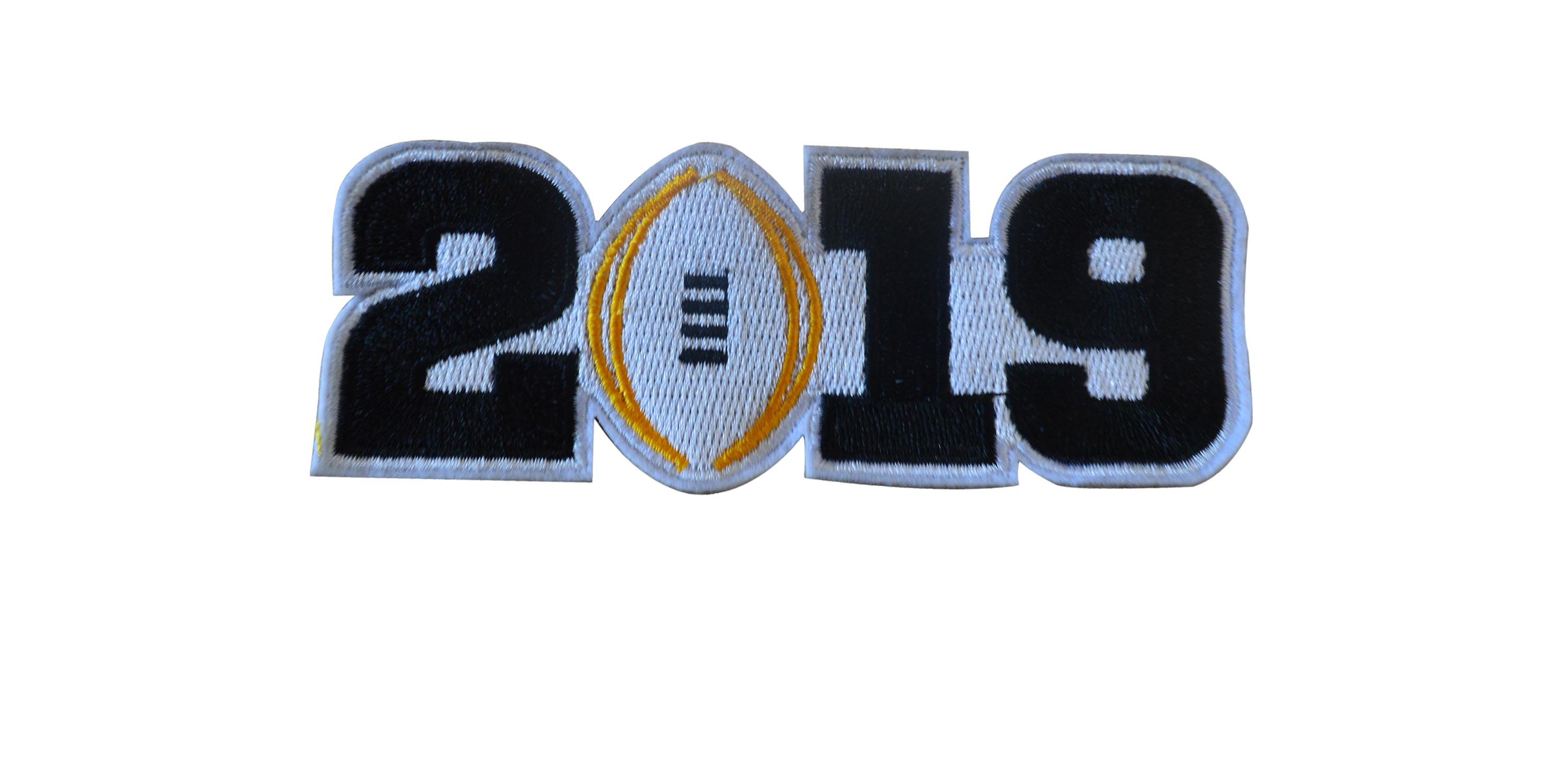 College Football Black 2019 Finals Patch