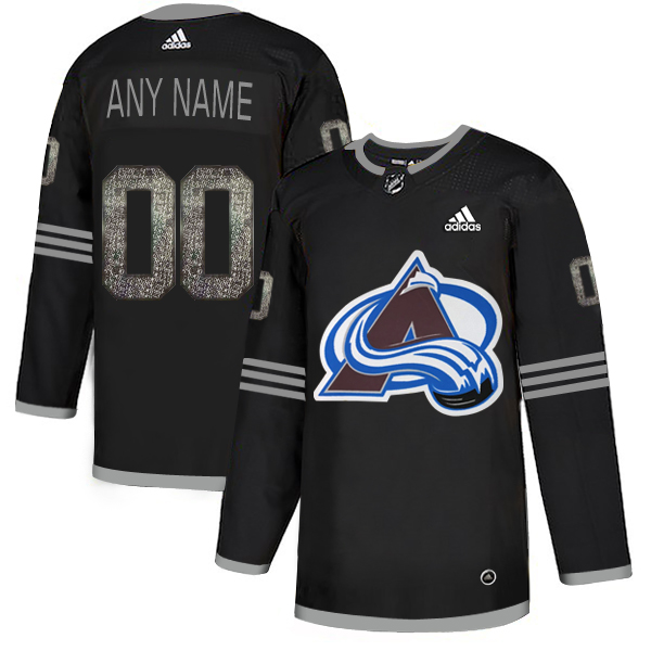 Colorado Avalanche Black Shadow Logo Print Men's Customized Adidas Jersey