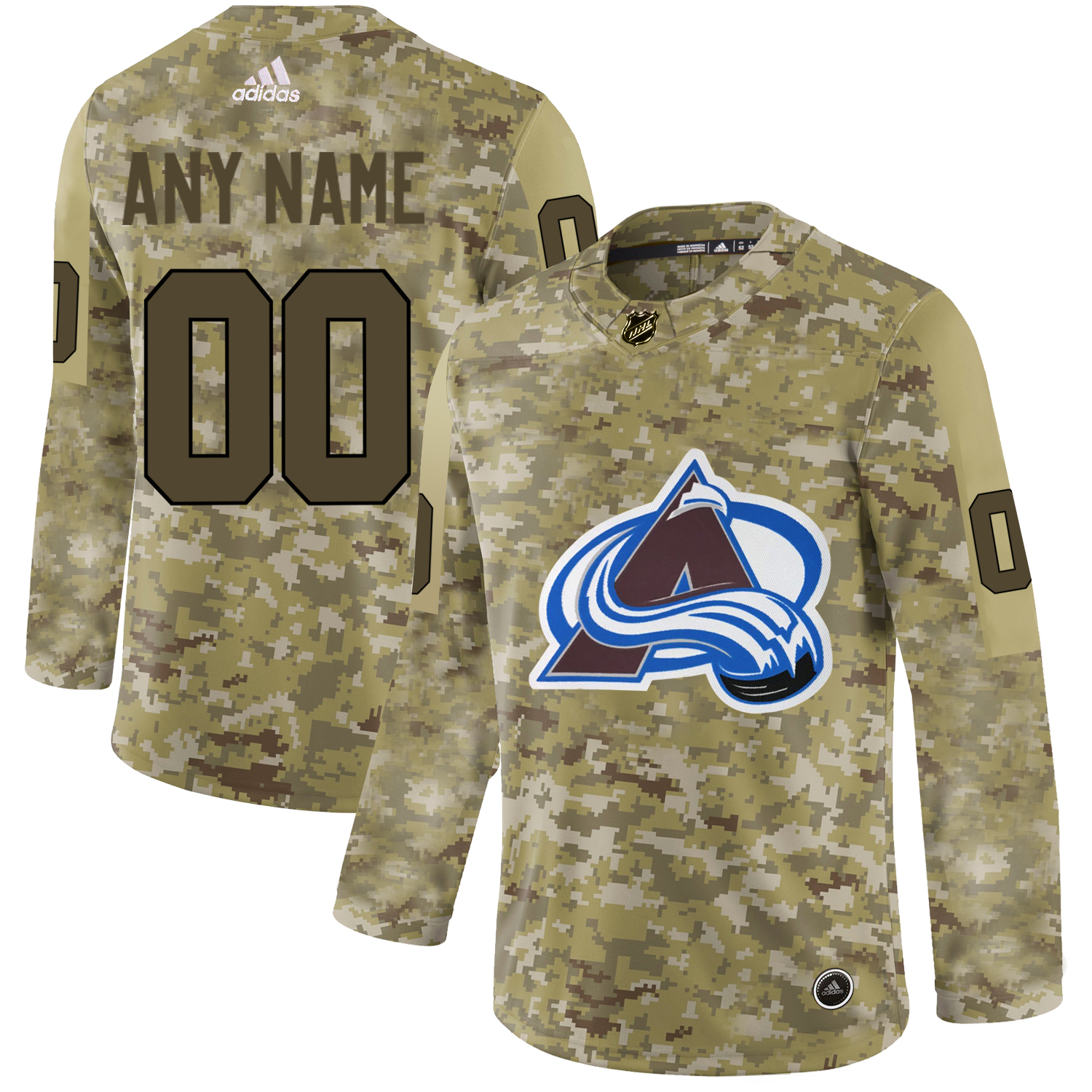 Colorado Avalanche Camo Men's Customized Adidas Jersey