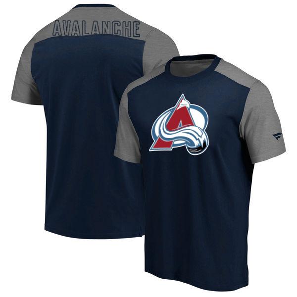 Colorado Avalanche Fanatics Branded Big & Tall Iconic T-Shirt Navy Heathered Gray
