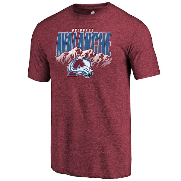Colorado Avalanche Fanatics Branded Burgundy Hometown Collection Tri Blend T-Shirt