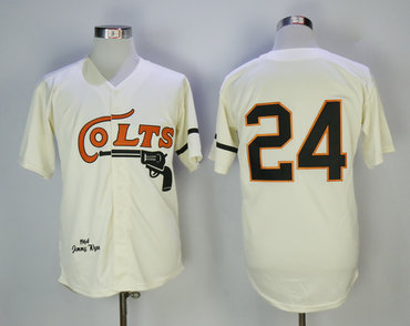 Colts 24 Jimmy Wynn Cream 1964 Throwback Jersey
