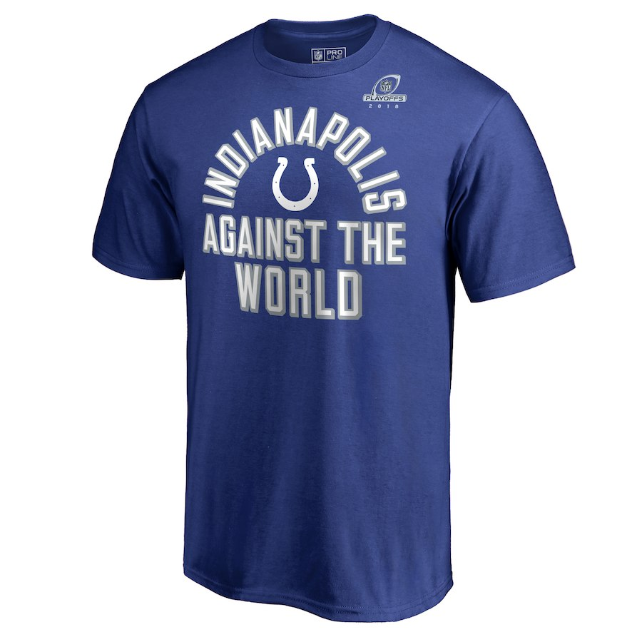 Colts Blue 2018 NFL Playoffs Against The World Men's T-Shirt