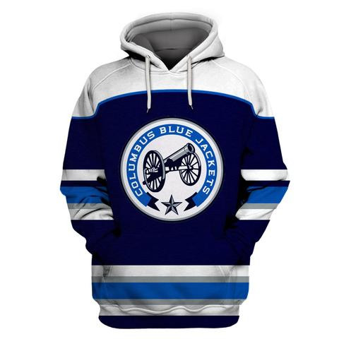 Columbus Blue Jackets Blue All Stitched Hooded Sweatshirt