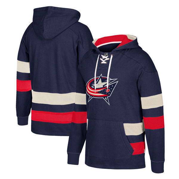 Columbus Blue Jackets Navy Men's Customized All Stitched Hooded Sweatshirt