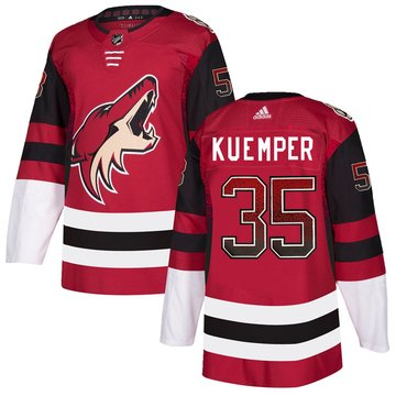 Coyotes 35 Darcy Kuemper Red Drift Fashion Adidas Jersey