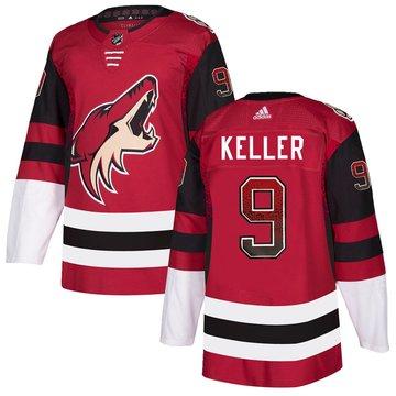 Coyotes 9 Clayton Keller Red Drift Fashion Adidas Jersey