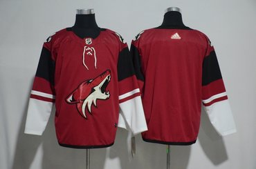 Coyotes Blank Red Adidas Jersey