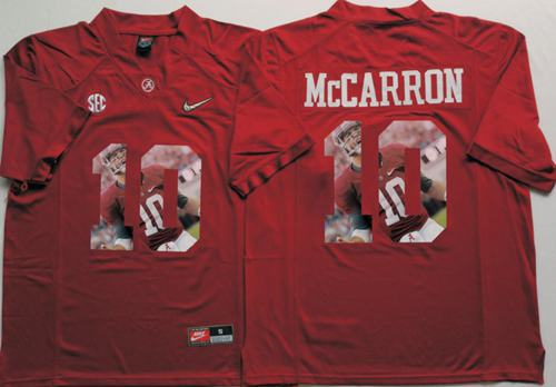 Crimson Tide #10 AJ McCarron Red Player Fashion Stitched NCAA Jersey