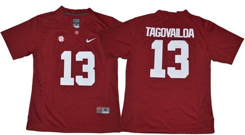 Crimson Tide #13 Tua Tagovailoa Red Limited Stitched NCAA Jersey