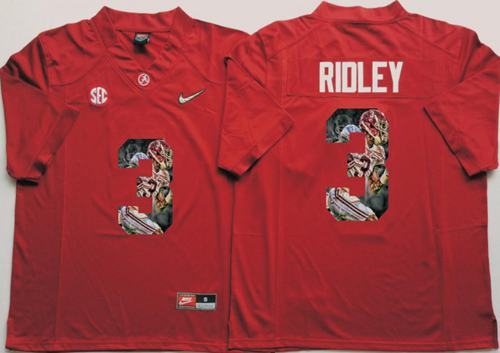 Crimson Tide #3 Calvin Ridley Red Player Fashion Stitched NCAA Jersey