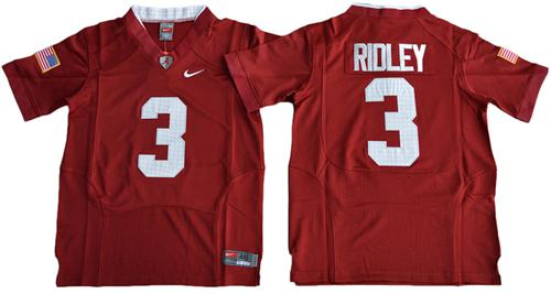 Crimson Tide #3 Calvin Ridley Red Pro Combat Stitched Youth NCAA Jersey