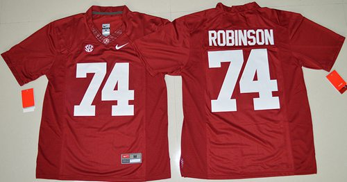 Crimson Tide #74 Cam Robinson Red Limited Stitched NCAA Jersey