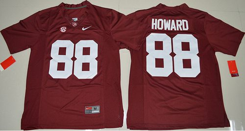 Crimson Tide #88 O. J. Howard Red Limited Stitched NCAA Jersey