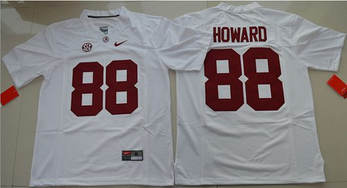 Crimson Tide #88 O. J. Howard White Limited Stitched NCAA Jersey