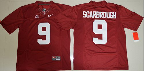 Crimson Tide #9 Bo Scarbrough Red Limited Stitched NCAA Jersey
