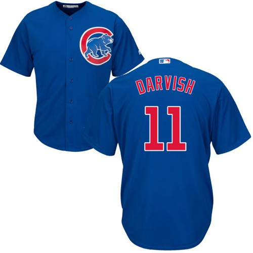 Cubs #11 Yu Darvish Blue Alternate Stitched Youth MLB Jersey