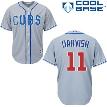 Cubs #11 Yu Darvish Grey Road Stitched Youth MLB Jersey