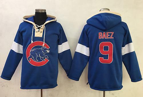 Cubs #9 Javier Baez Blue Pullover MLB Hoodie