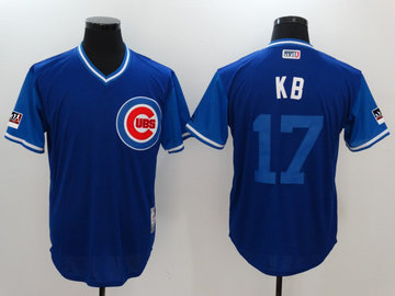 Cubs 17 Kris Bryant KB Royal 2018 Players' Weekend Authentic Team Jersey