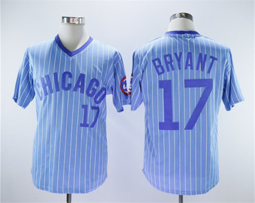 Cubs 17 Kris Bryant Light Blue Turn Back The Clock Jersey