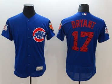 Cubs 17 Kris Bryant Royal 2018 Spring Training Flexbase Jersey