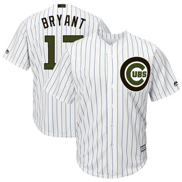Cubs 17 Kris Bryant White 2018 Memorial Day Cool Base Jersey