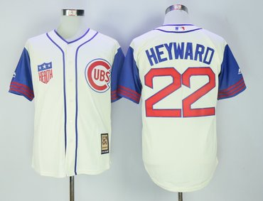 Cubs 22 Jason Heyward Cream Cooperstown Collection Jersey