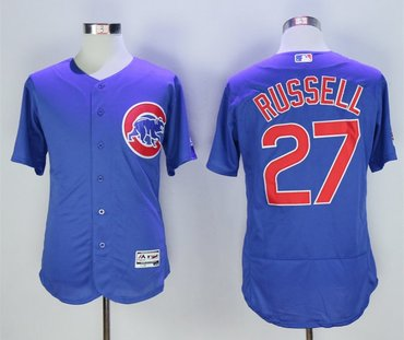 Cubs 27 Addison Russell Royal Flexbase Jersey