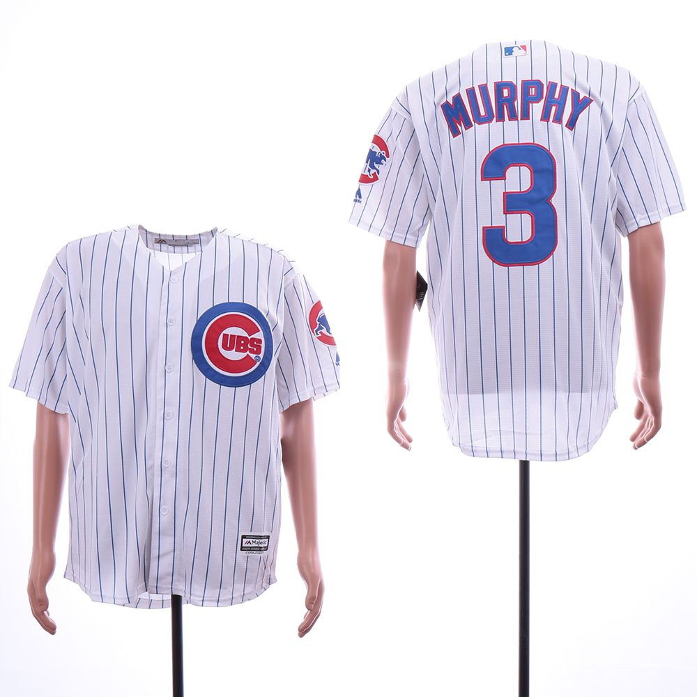 Cubs 3 Daniel Murphy White Cool Base Jersey