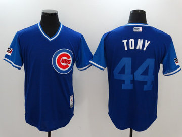 Cubs 44 Anthony Rizzo Tony Royal 2018 Players' Weekend Authentic Team Jersey
