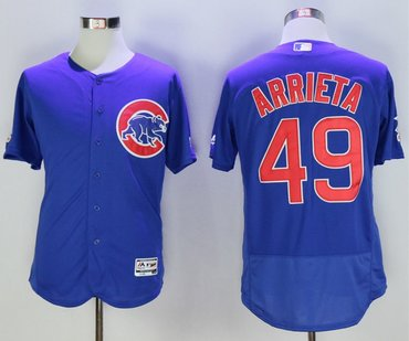 Cubs 49 Jake Arrieta Royal Flexbase Jersey