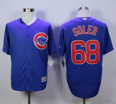 Cubs 68 Jorge Soler Royal Cool Base Jersey