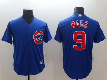Cubs 9 Javier Baez Royal Throwback Cool Base Jersey