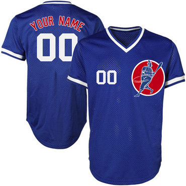 Cubs Blue Men's Customized New Design Jersey