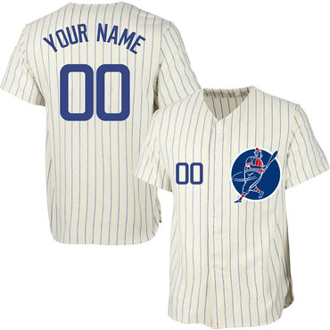 Cubs Cream Men's Customized New Design Jersey