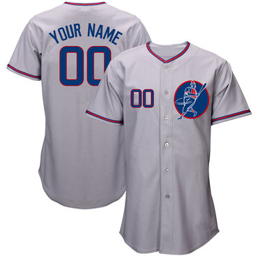 Cubs Gray Men's Customized New Design Jersey