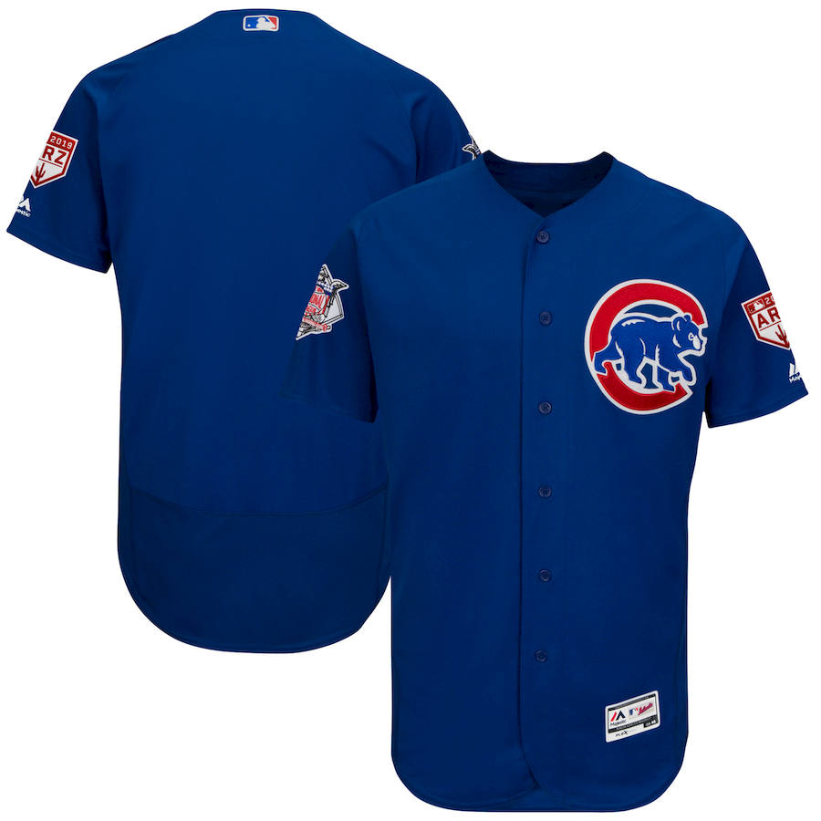 Cubs Royal 2019 Spring Training Flexbase Jersey