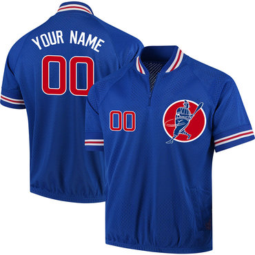 Cubs Royal Men's Customized New Design Jersey