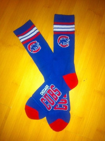Cubs Team Logo Blue MLB Socks