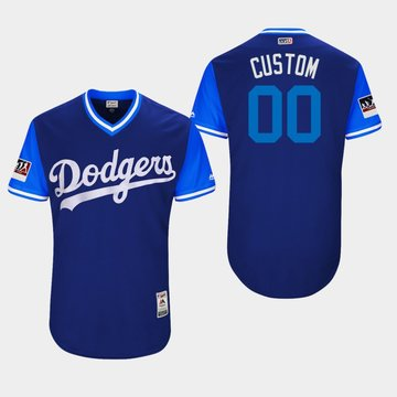 Custom  Los Angeles Dodgers Royal 2018 Players' Weekend Authentic Team Jersey