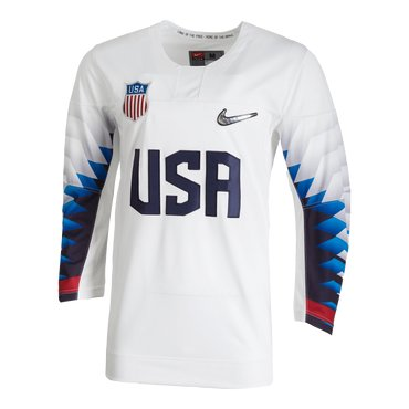 Custom 2018 USA Olympic Hockey White Color Jerseys (Any Name Any Number)