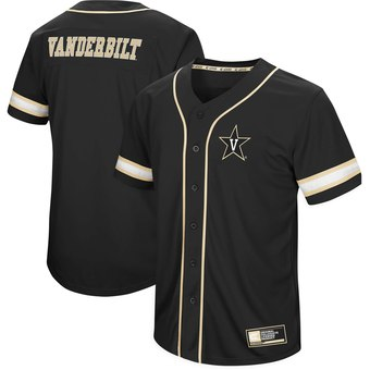 Custom Colosseum Vanderbilt Commodores Black Play Ball Baseball Jersey