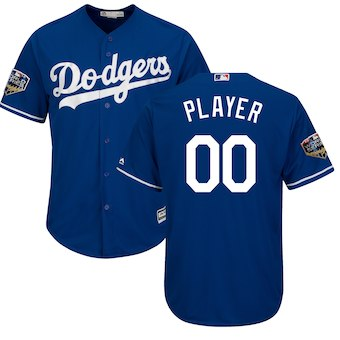 Custom Men's Los Angeles Dodgers Majestic Royal 2018 World Series Cool Base Jersey