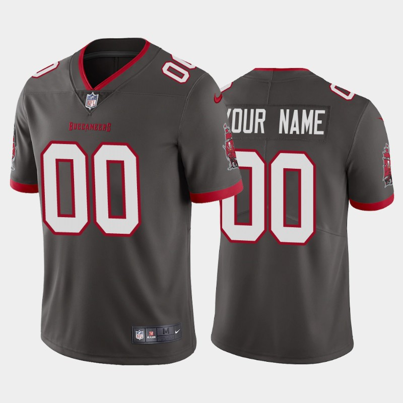 Custom Men's Tampa Bay Buccaneers 2020 Vapor Limited Gray Jersey (2)
