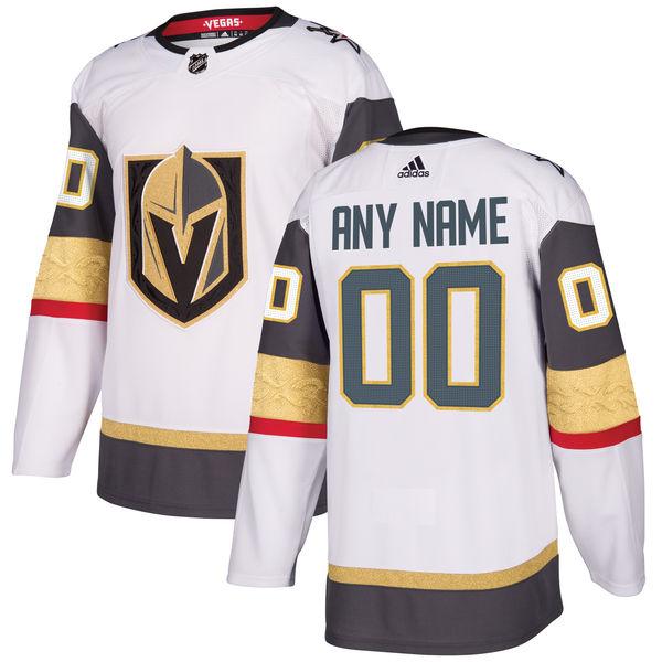 Custom Mens Vegas Golden Knights White Jersey