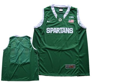 Custom Michigan State Spartans Green College Basketball Jersey Any name any number