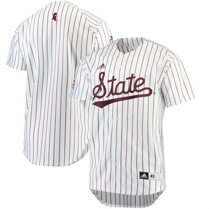 Custom Mississippi State Bulldogs Maroon White NCAA Baseball Jersey